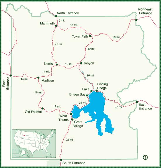 Yellowstone Karte.Reiseinformationen Yellowstone Nationalpark